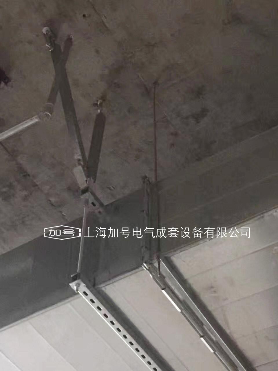 矩形风管抗震双侧向支吊架