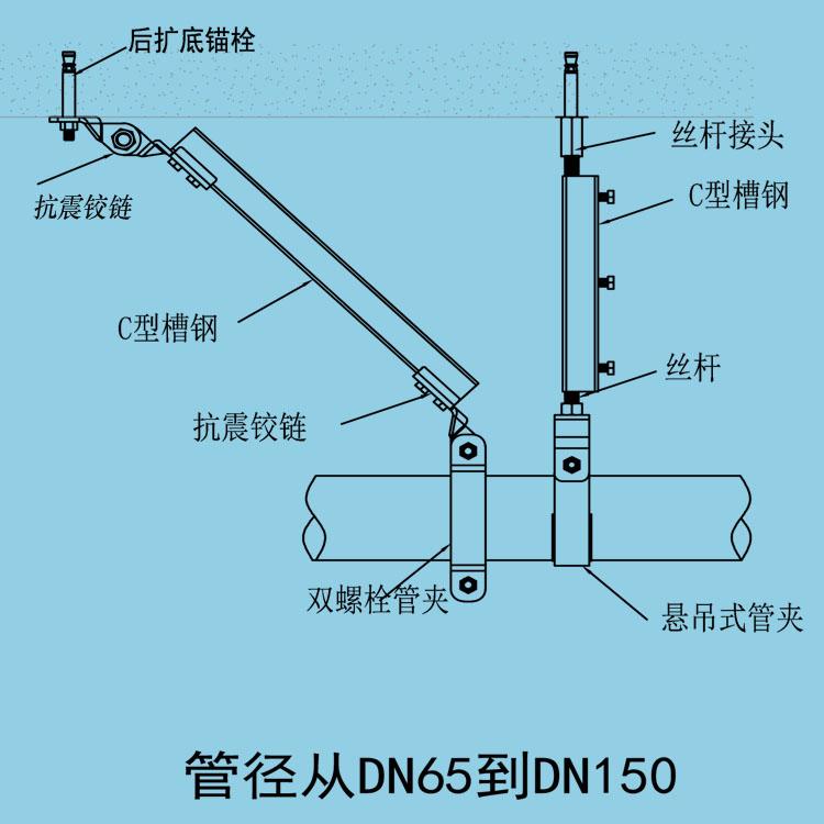 JHKZ-L02单管纵向抗震支吊架